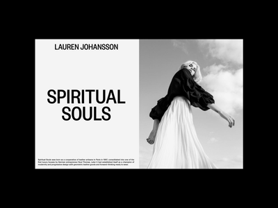 LJ — Spiritual Souls webdesign web branding uidesign digital design visual design ui typography digital design
