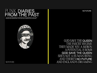 PUNK DIARIES illustration visual design ui uidesign typography digital design digital design