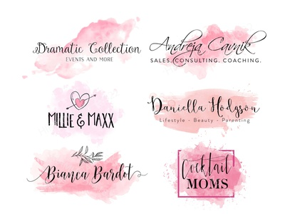 create 2 beautiful watercolor feminine or signature logo digital signature logo famous signature logos logo creative logo handwritten logo modern design illustration minimalist outstanding logo signature logo fonts