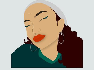Self Portrait 9.8 logo branding design vector adobe illustrator dropshadow modern portfolio minimal illustration