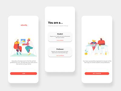 Edufy | Teaching Services App appdesign app design app webdesigns web design web ux ui ux ui ui design uidesign design