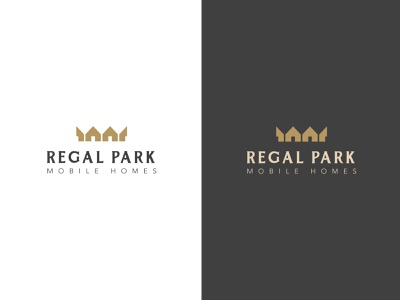 Regal Park 2.0 crown design branding vector identity logo simple icon illustration