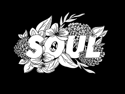 Water Your Soul botanicals florals type typography illustration