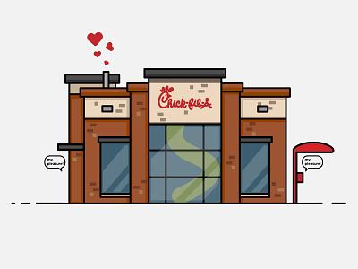 Best Place on Earth architechture flat  design buiding restaurant icon simple design illustration