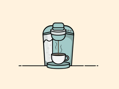 Sweet Nectar of the Gods icon design flat design flat coffee cup caffeine coffee design simple icon vector illustration