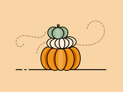 Happy Fall Y'all flat illustration flat design flat creative icon design lineart autumn fall pumpkin design simple icon vector illustration