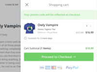 Desktop Shopping Cart UI