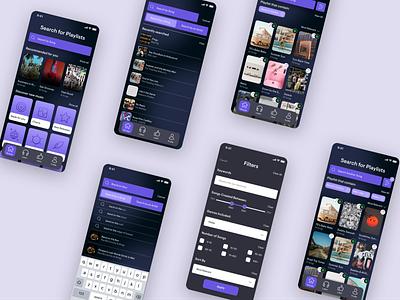 Playlist Finder App userinterface appidea playlist design iosdesign ux music musicplayer app appdesign ui