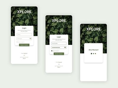 Login Screen for Exploring City's Green Spaces minimal green greenery nature simple ui log in login design iosdesign app appdesign