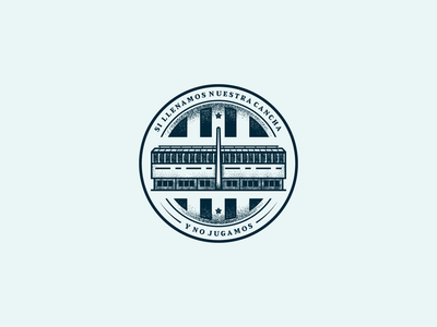 Si llenamos nuestra cancha y no jugamos illustration design illustrator illustration art illustrations illustration digital brand design circle logo sport racing argentina soccer stadium vector illustration branding design