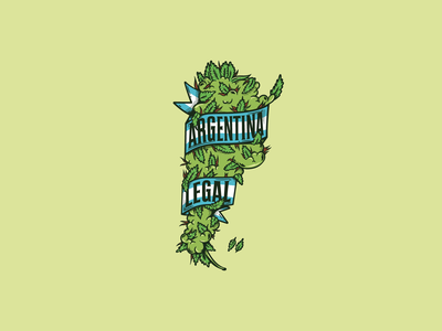 Argentina Legal logo illustration legalization cannabis logo cannabis marijuana logo marijuana illustration logos brand identity vector logo design brand design brand branding design logo legal argentina