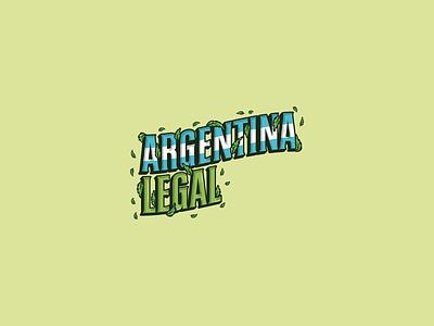 Argentina Legal marijuana cannabis logo cannabis typography logos brand identity vector logo design brand design brand logo branding legalization legal argentina