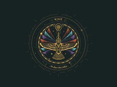 El Poder de Decidir - Kimé circle hummingbird illustrations illustration art design illustration