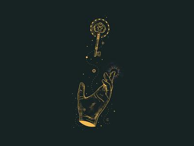 El Poder de Decidir - Kimé mystic key hand illustration art illustrations illustration
