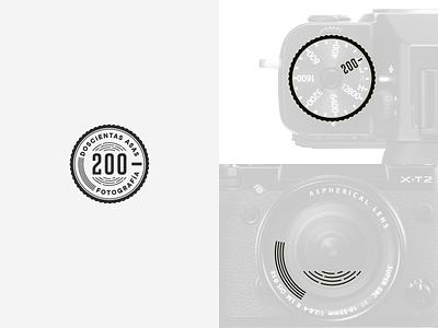 Doscientas Asas photographer photography camera logotype logos brand identity vector logo design brand design brand logo branding design