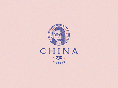 China Ze · Trenzas circle face women portrait logotype typography logos brand identity vector logo design brand design brand logo branding design