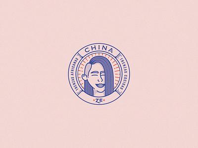 Chinza Ze · Trenzas sticker isologo women circle illustration logos brand identity vector logo design brand design brand logo branding design