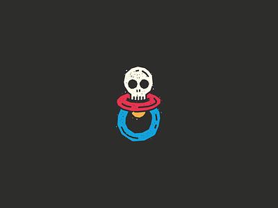 Yinyes brand design brand branding childrens illustration children rock skull baby icon