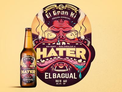 Hater · Red Honey Beer illustrations illustration art illustration label design label beer art beer branding beer label hater beer