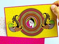 Indian Wedding Invitation inspired by Henna Art