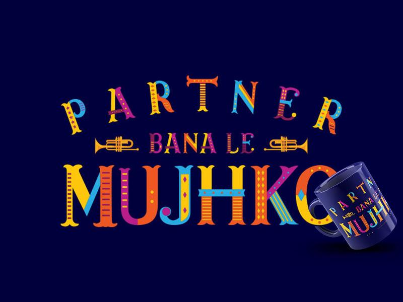 Bollywood Movie Dialog - Typography color hindi alphabet layered font bollywood india typography