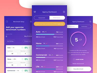 Agency On Track modern insurance test gradient app mobile