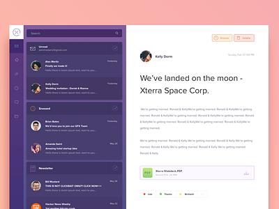 Email App Redesign modern gradient webapp email