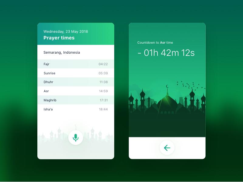 Daily UI #014 (Countdown Timer Hint) ramadhan ramadan times prayer uxdesign ux ui daily hint timer countdown