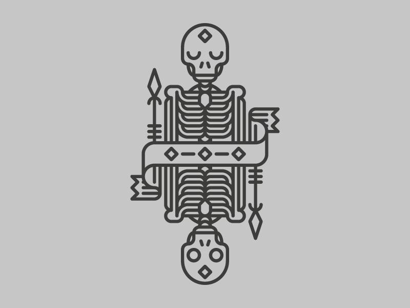 Guardian skeleton skull andreas wikström
