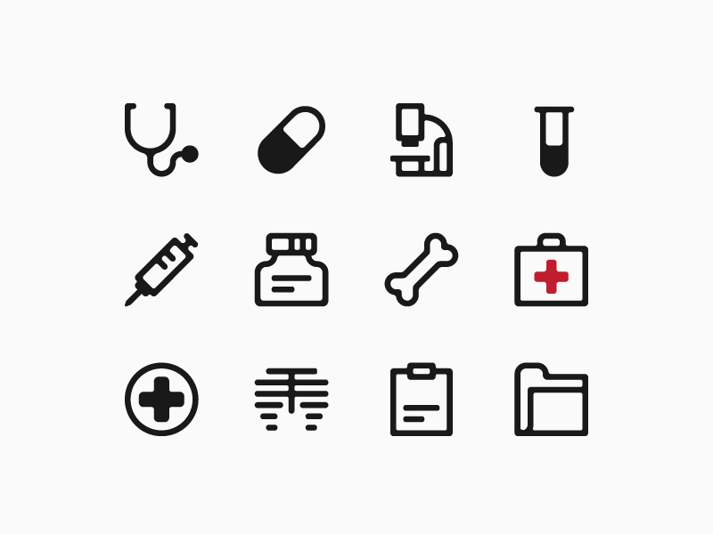 Health care icons hospital health care icon illustration andreas wikström