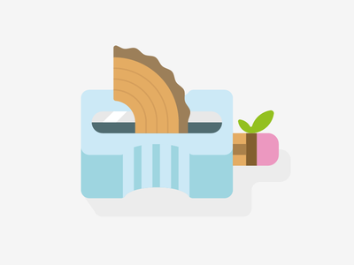 Wood leaf natural nature icon illustration andreas wikström