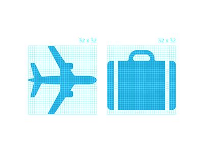 32 x 32 square grid grid plane travel icon andreas wikström