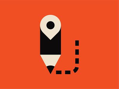 Going places minimal clever pen poster vector pictogram ui graphic design print design icon illustration andreas wikström