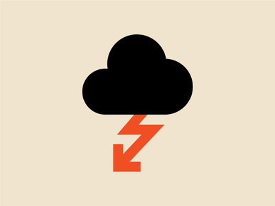 Lightning poster vector ui pictogram graphic design print icon design illustration andreas wikström