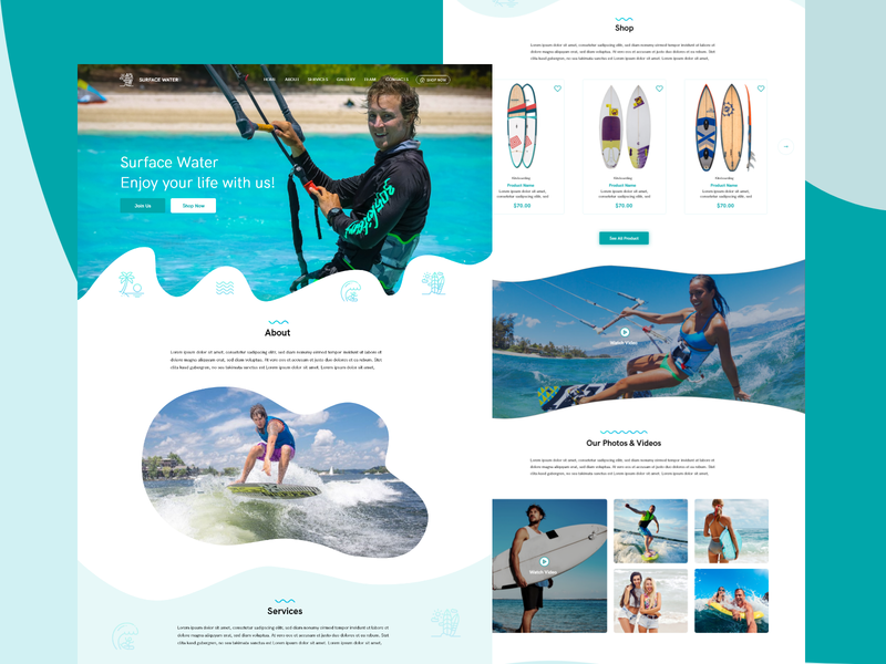 Water Surfing - Surfing and Water Sports Web Template