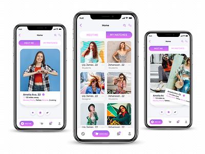 Dating App ios UiKit Design online dating app social app