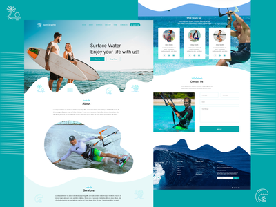 WaveRide - Surfing and Water Sports Web Template