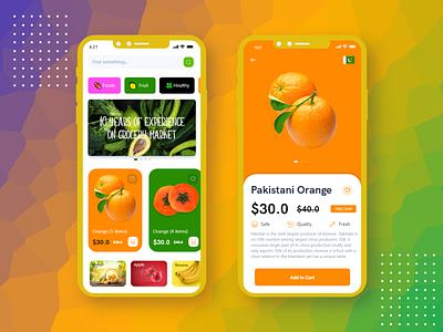 Fruits Store App Design fruit app e-commerce groceries app