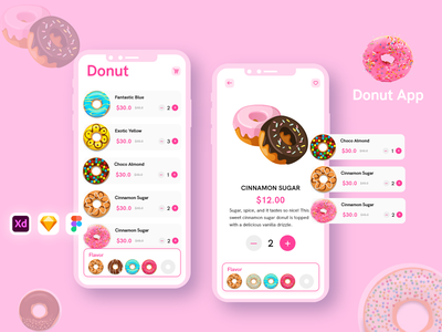 Donut iOS UI KIT food delivery