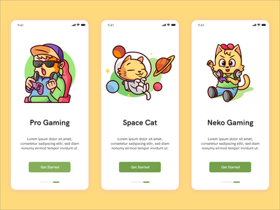 Neko Gaming Onboarding Screen - Baby Gamming UiKIT