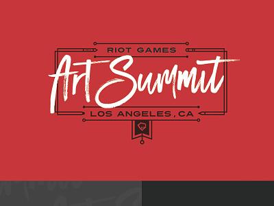 Art Summit Logo typography script art riot