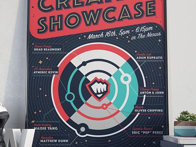Creative Showcase Poster illustration typography icon halftones screenprint poster branding logo