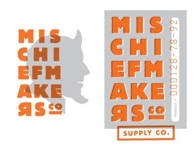 Mischief Makers Facelift mischief makers print branding identity