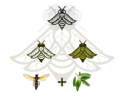 insect and leaf logo