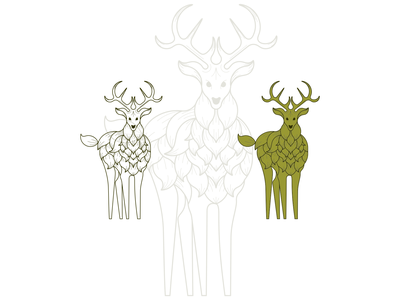 deer and leaf logo