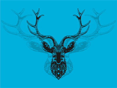 deer logo animal deer head logo