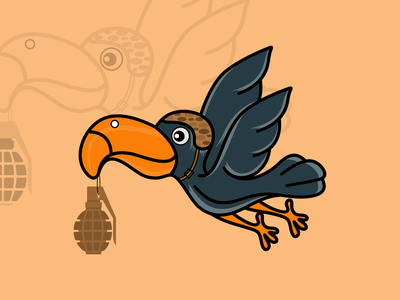 bird carrying logo bomb
