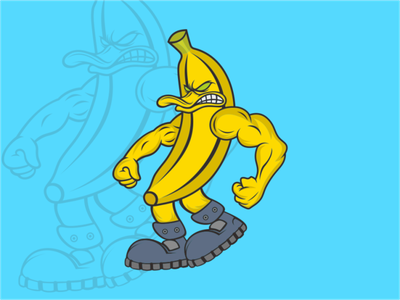 banana logo illustration