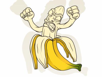 banana logo illustration