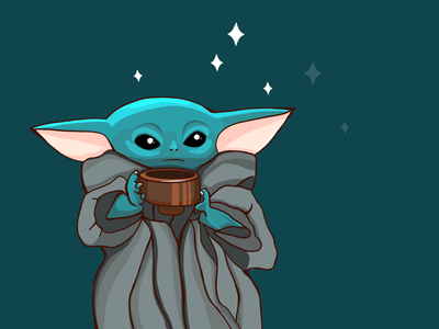 Baby Yoda design cute personage illustration star wars art